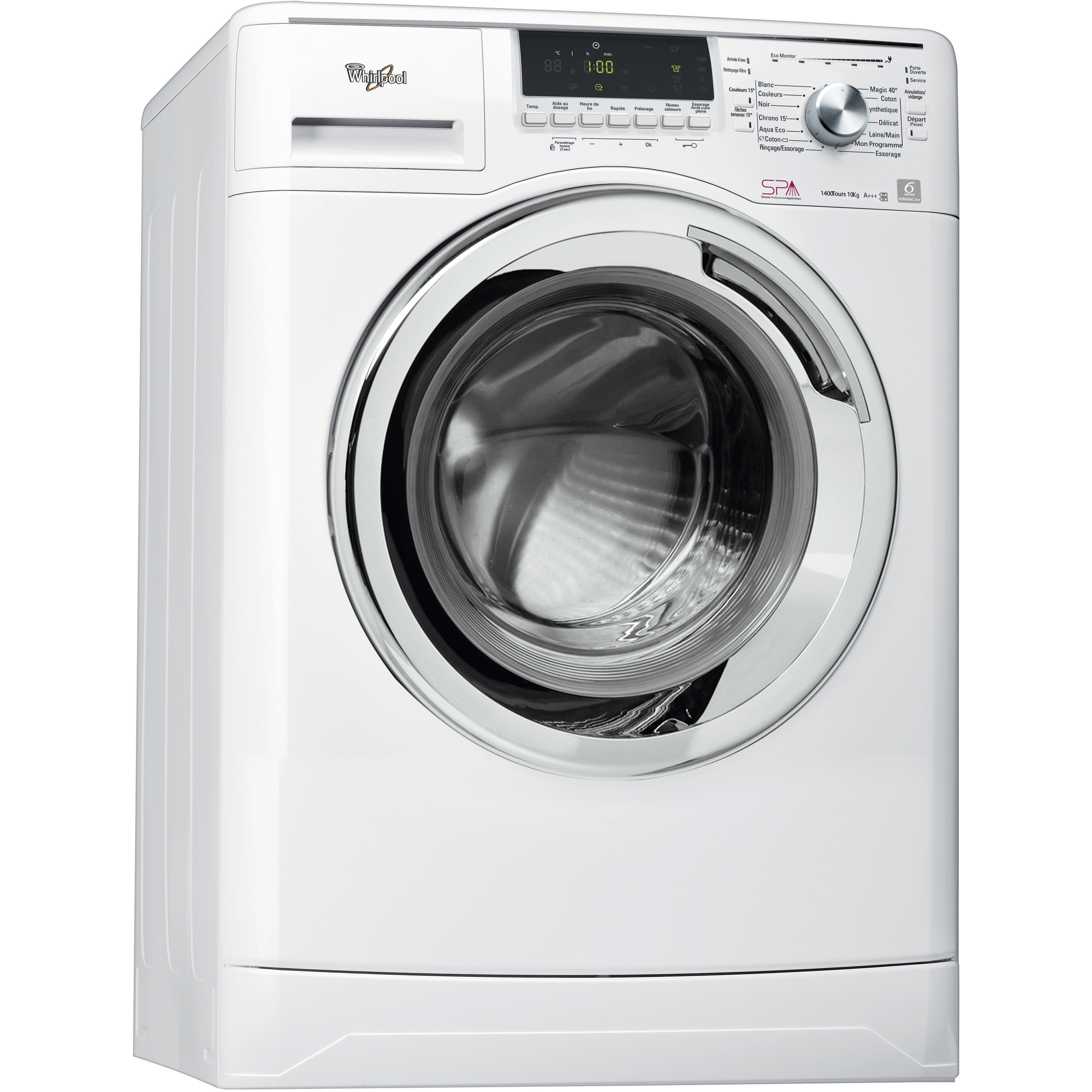 Lave linge whirlpool - Dimension machine a laver frontale ...