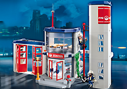 notice playmobil 4819 caserne de pompiers mode d 39 emploi. Black Bedroom Furniture Sets. Home Design Ideas